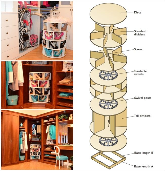 This DIY Lazy Susan Shoe Rack is Just Awesome for Shoe Storage ...