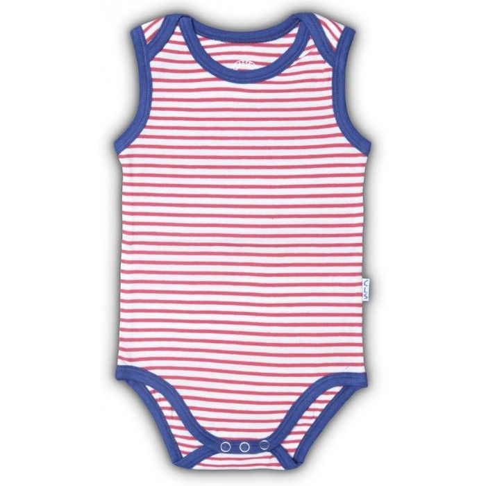 Claesen's Red Stripe Baby Romper. What better way for baby to greet its first summer than in stripes?!  $20 #Designer #baby #clothing #gifts