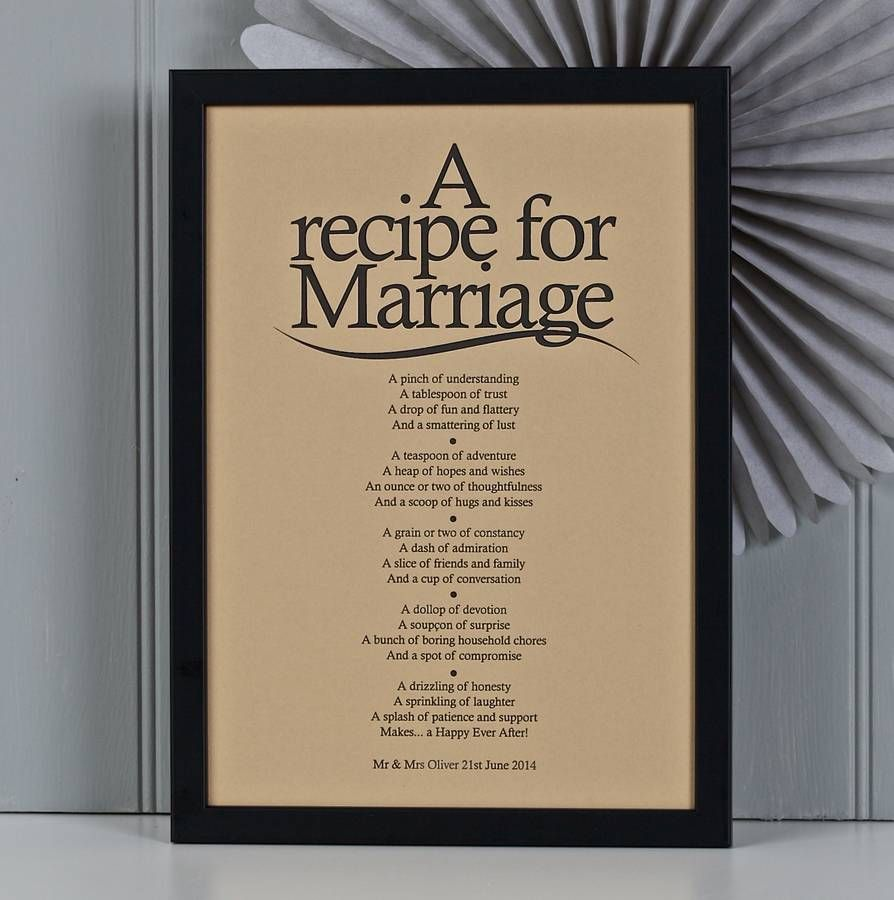 u0027a recipe for marriageu0027 vintage style poem