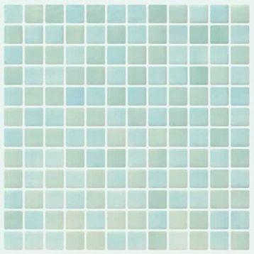 Mosaique Sol Mur En Emaux De Verre Colors 2 5x2 5 Bleu Vert