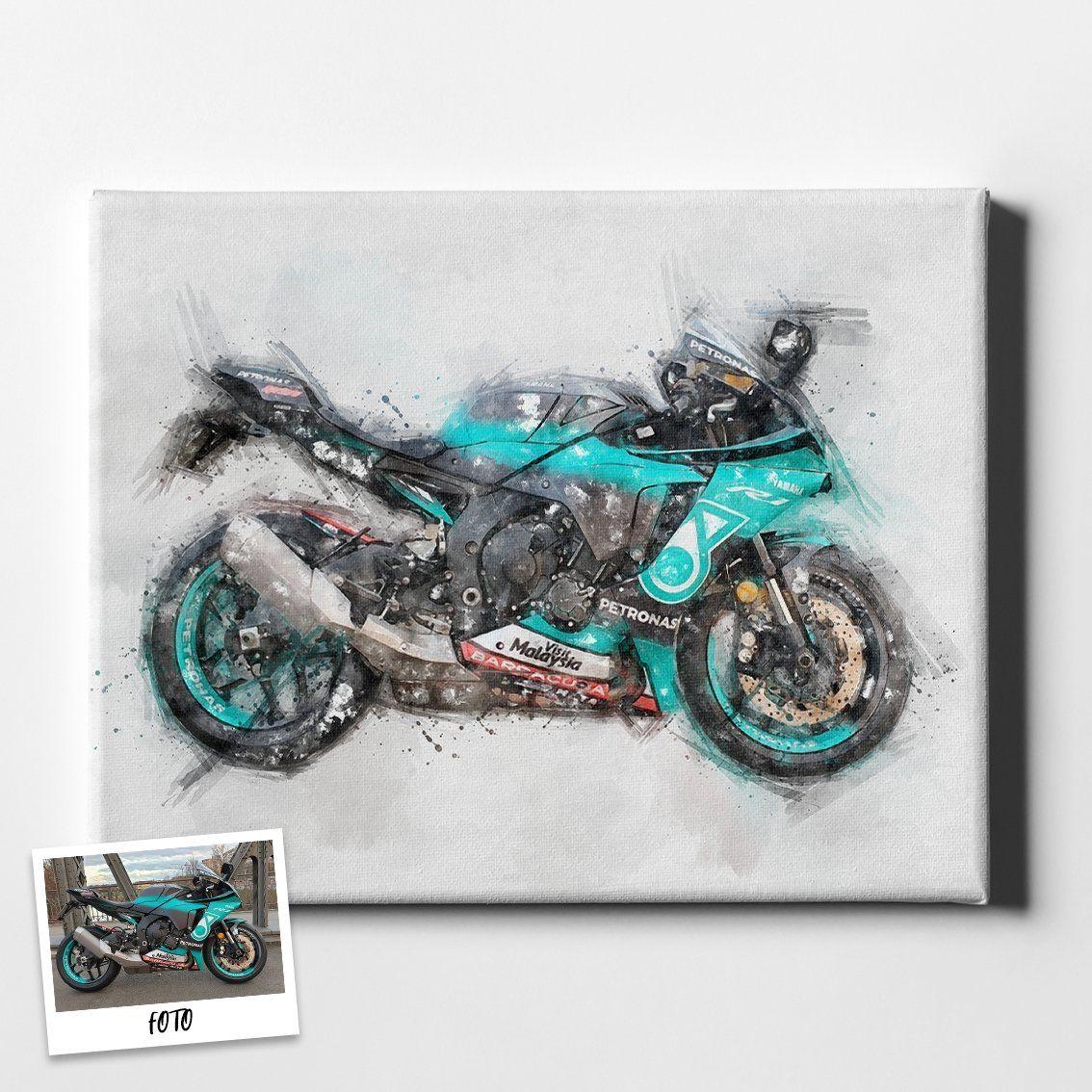 leinwand dein motorrad als eigenes kunstwerk motorenmaler bilder mehrteilig auf foto