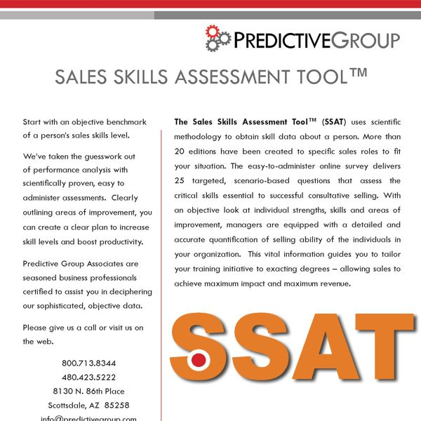 sales skills assessment tool an objective look at an individuals strengths skills and