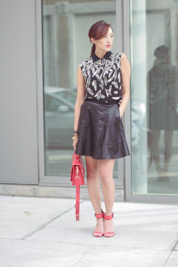 Miss Lim wearing Miss Wu & @Sole Society
