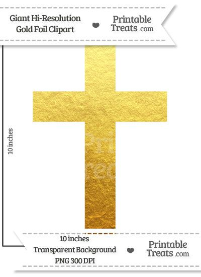 Gold Foil Giant Cross Clipart Clip Art Cross Clipart Free Clip Art