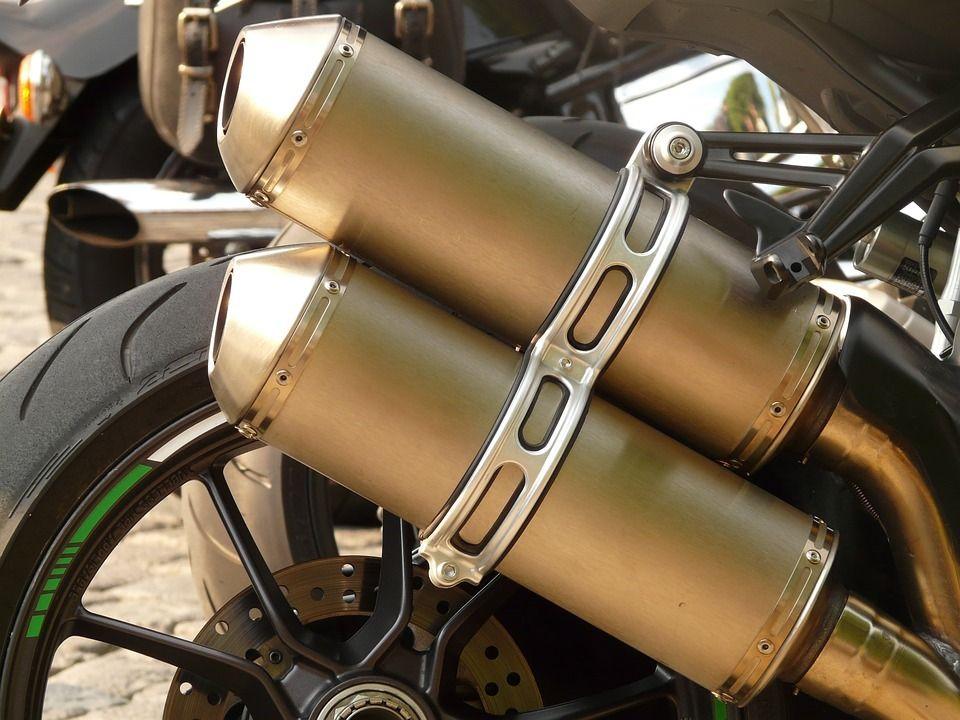 Der Auspuff. Die Auspuffe.  Der Auspuff des Motorrads.