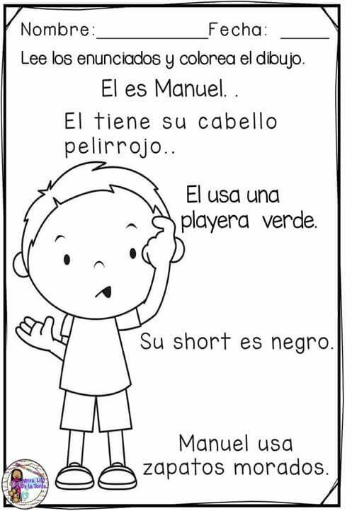 Texto para colorear | Español | Pinterest | Colorear, Textos y ...