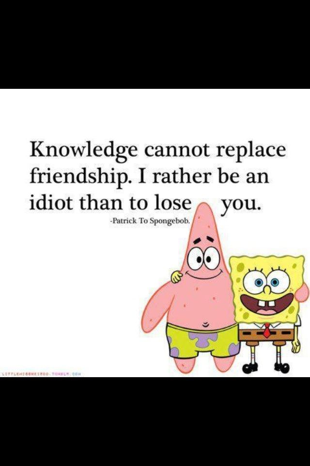Spongebob and Patrick | Tattoes | Funny jokes for kids, Friendship