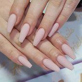 41 Beautiful Nude Nail Art Design – Nagel Acryl, Nägel #nailart #nails #manicure #nail – Toda…