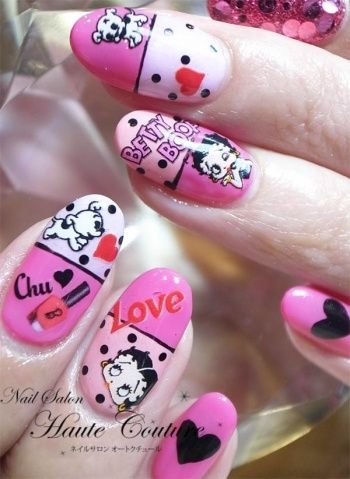 Betty Boop Nails Nails Pinterest Betty Boop Hair And Beauty