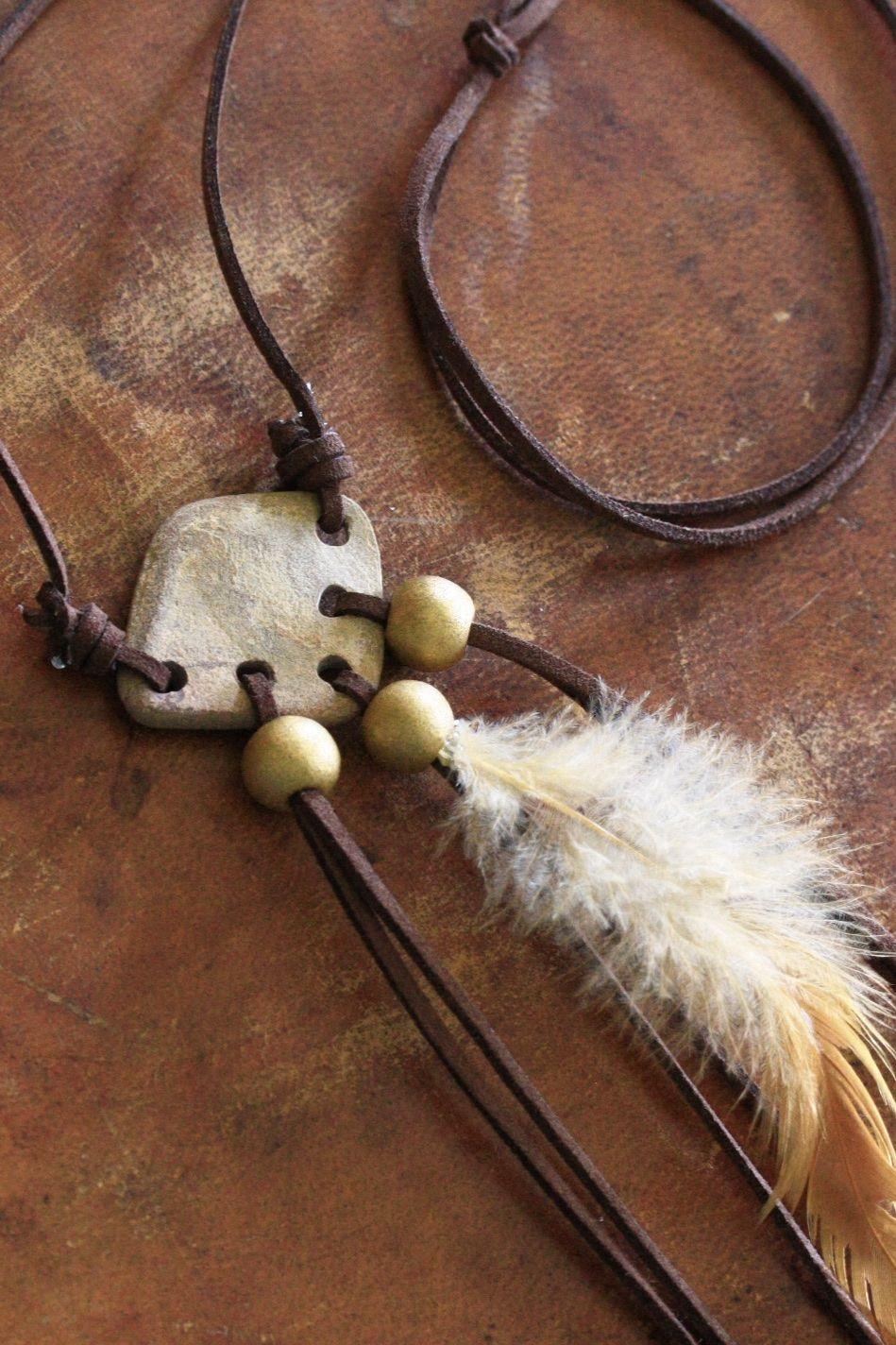 Boho necklace, boho pendant, hippie necklace, sea found pottery, sea found ceramic, ceramic necklace, feather necklace, boho jewelry