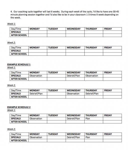 Instructional Coaching Tools Initial Meeting Agenda Approx 30 Min Literacy