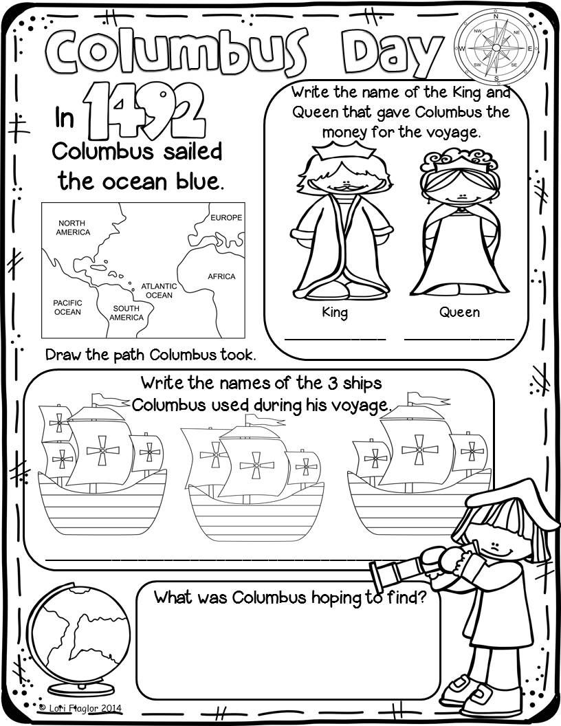 This Product Has 1 B W Poster To Color And 5 Colored Posters To Cover Christopher Columbus Worksheets Homeschool Social Studies Christopher Columbus Activities