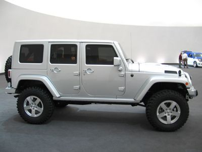 I Love The Look Of The All Silver It Reminds Me Of A Mercedes My Wife Doesn T Like It So Much I Also Think Custom Jeep Wrangler Dream Cars Jeep Wrangler