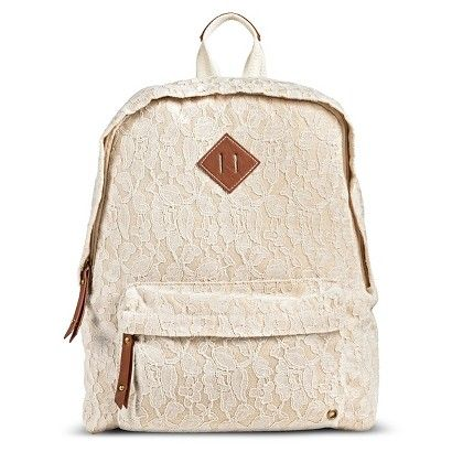 Women's Crochet Lace Backpack Handbag - Ivory