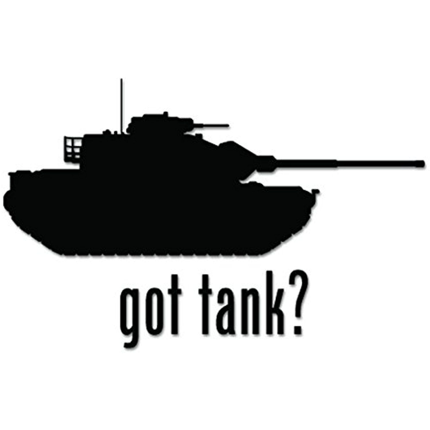 Got Tank Military Army Vinyl Decal Sticker For Vehicle Car Truck Window Bumper Wall Decor - [6 inch/15 cm Wide] - Matte WHITE Color ** Find out more about the great product at the image link. (This is an affiliate link) #WallStickersMurals