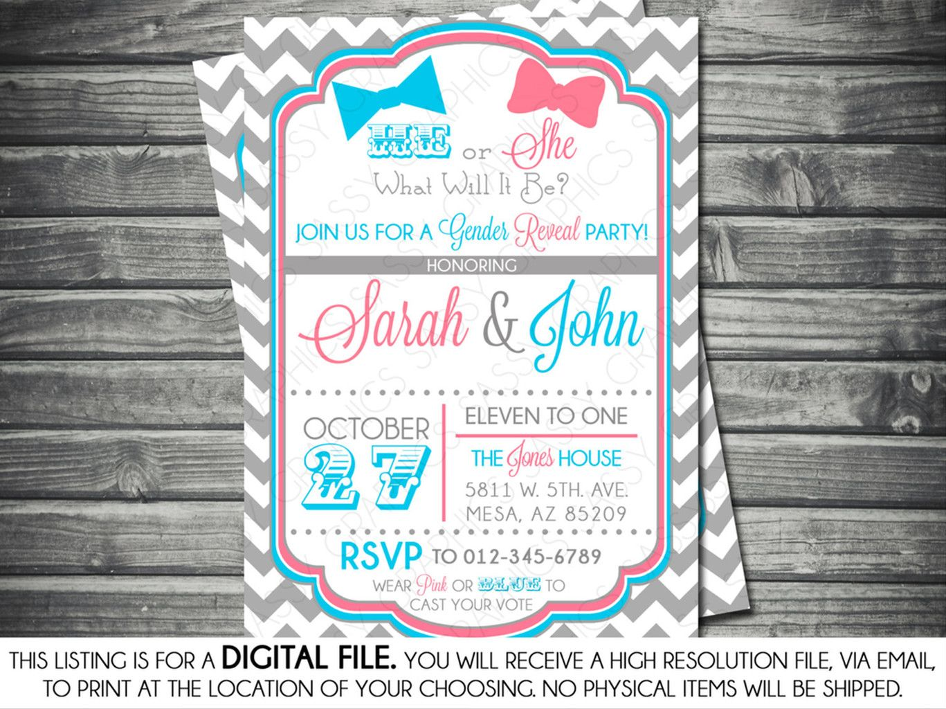 10 Fun Ideas for Throwing a Gender Reveal Party – Gender Reveal Party Invitation