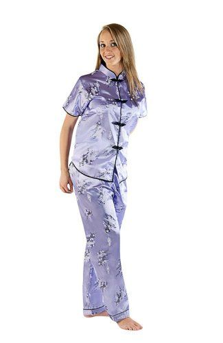 f1cafc7d7664b Amazon.com: Women's Traditional Chinese Inspired Pajamas Set: Clothing