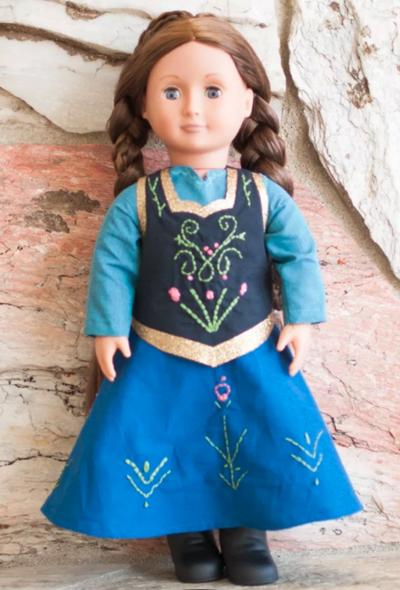Anna-Inspired Doll Dress Pattern #dolldresspatterns