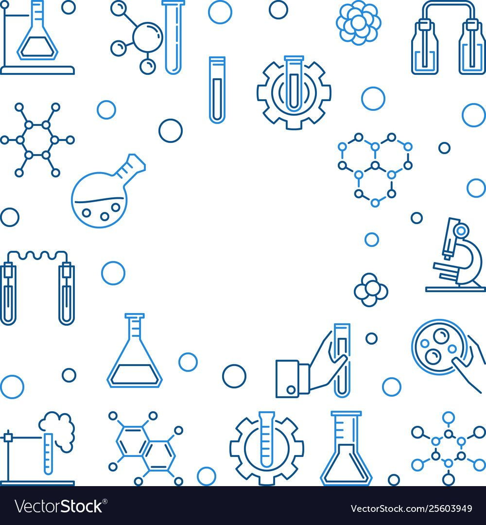 Chemistry outline background with empty Royalty Free
