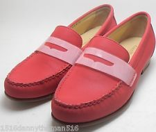 e6c6466d003 NEW WOMENS COLE HAAN MONROE PENNY LOAFER SHOES SIZE 6.5 TANGO RED  REFLECTIVE 3M