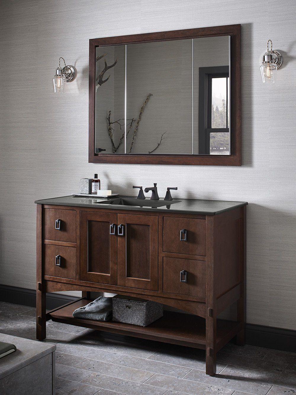 Kohler K99011Na Verdera 40Inch30Inch Slowclose Medicine Magnificent 40 Inch Bathroom Vanity Decorating Design