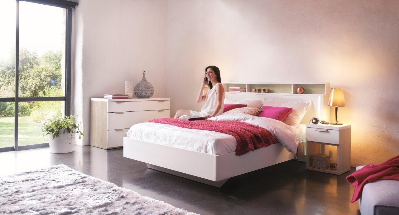 Chambre complète Loft : chambre à coucher adulte   Meubles CéLio ...