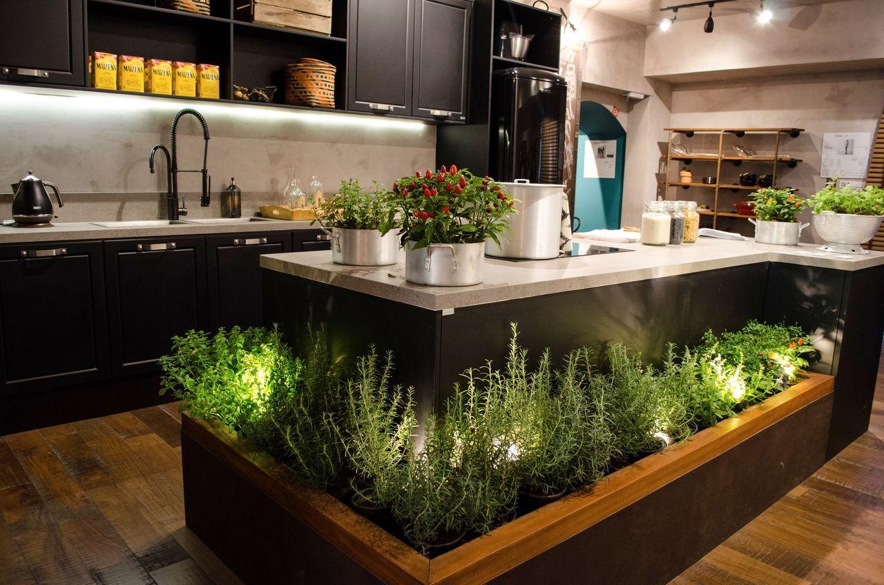 Cozinha Gourmet Industrial E Ilha Com Horta Casa Cor Amostras