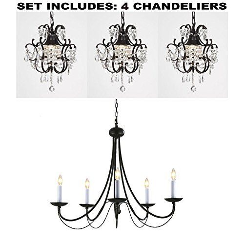 The original gypsy color 3 light mini plug in black chandelier for the original gypsy color 3 light mini plug in black chandelier for h16 w13 aloadofball Images