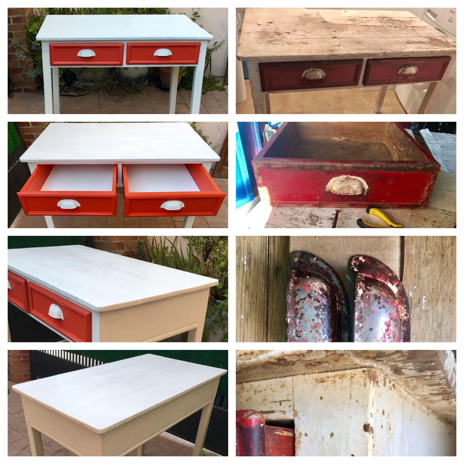 Muebles Antiguos Restaurados En Blanco Trendy Mueble Restaurado  # Muebles Restaurados En Blanco