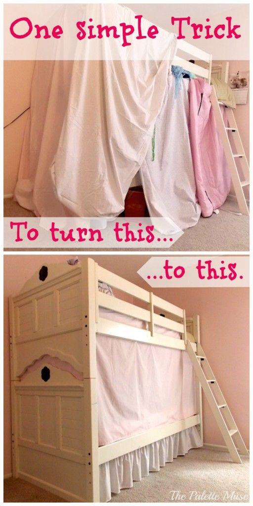Simple No Sew Bunk Bed Tent Bunk Bed Tent Diy Bunk Bed Bed Tent