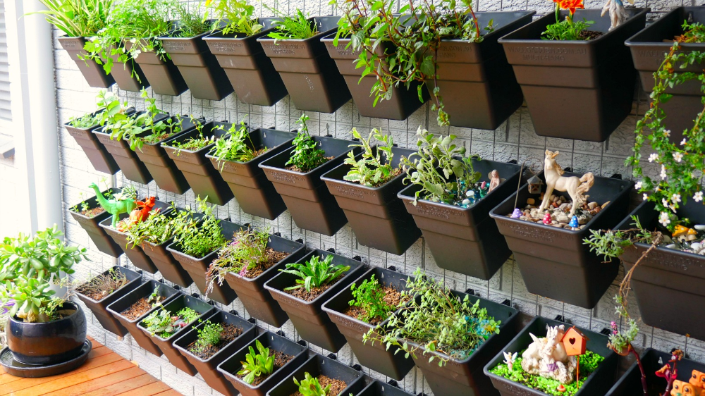 An awesome herb wall garden that will make you want one