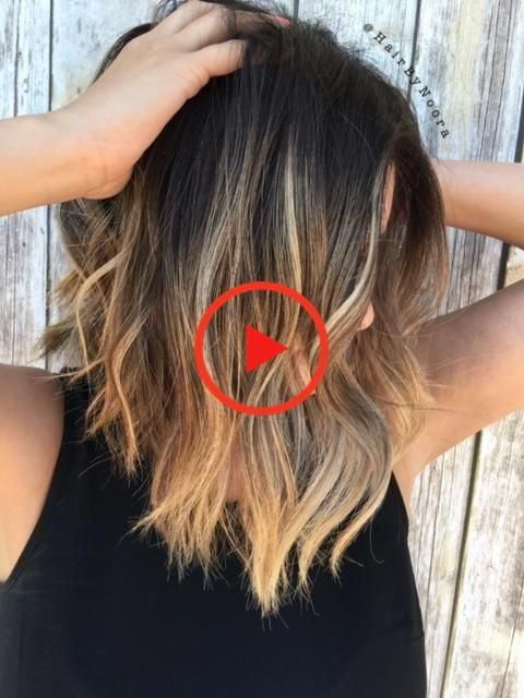 HOW-TO: Balayage Highlights on Brunette Lob | Modern Salon #shorthairbalayage#balayage #brunette