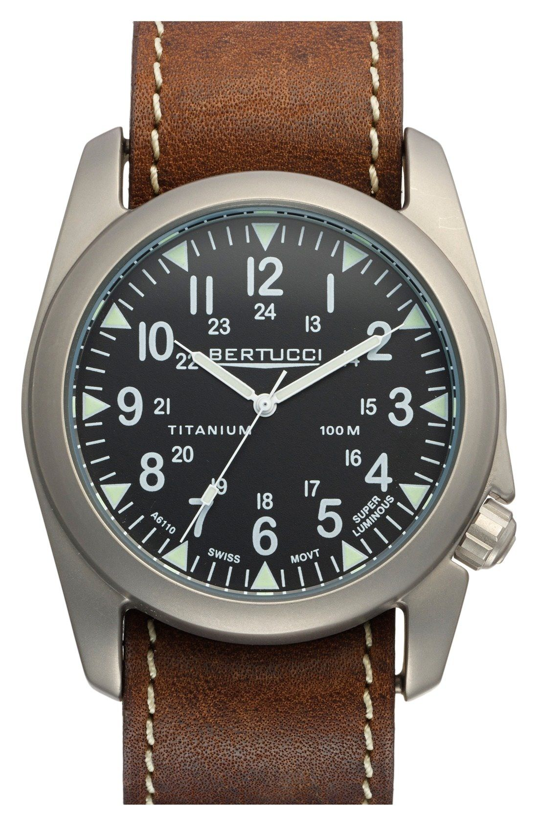 bertucci watches a 4t vintage yankee leather strap watch 44mm bertucci watches vintage yankee leather strap watch available at mens watches uk men black watches watch batteries ad