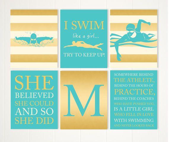 Gift for girl, teen girl wall art, motivational girls quotes ...