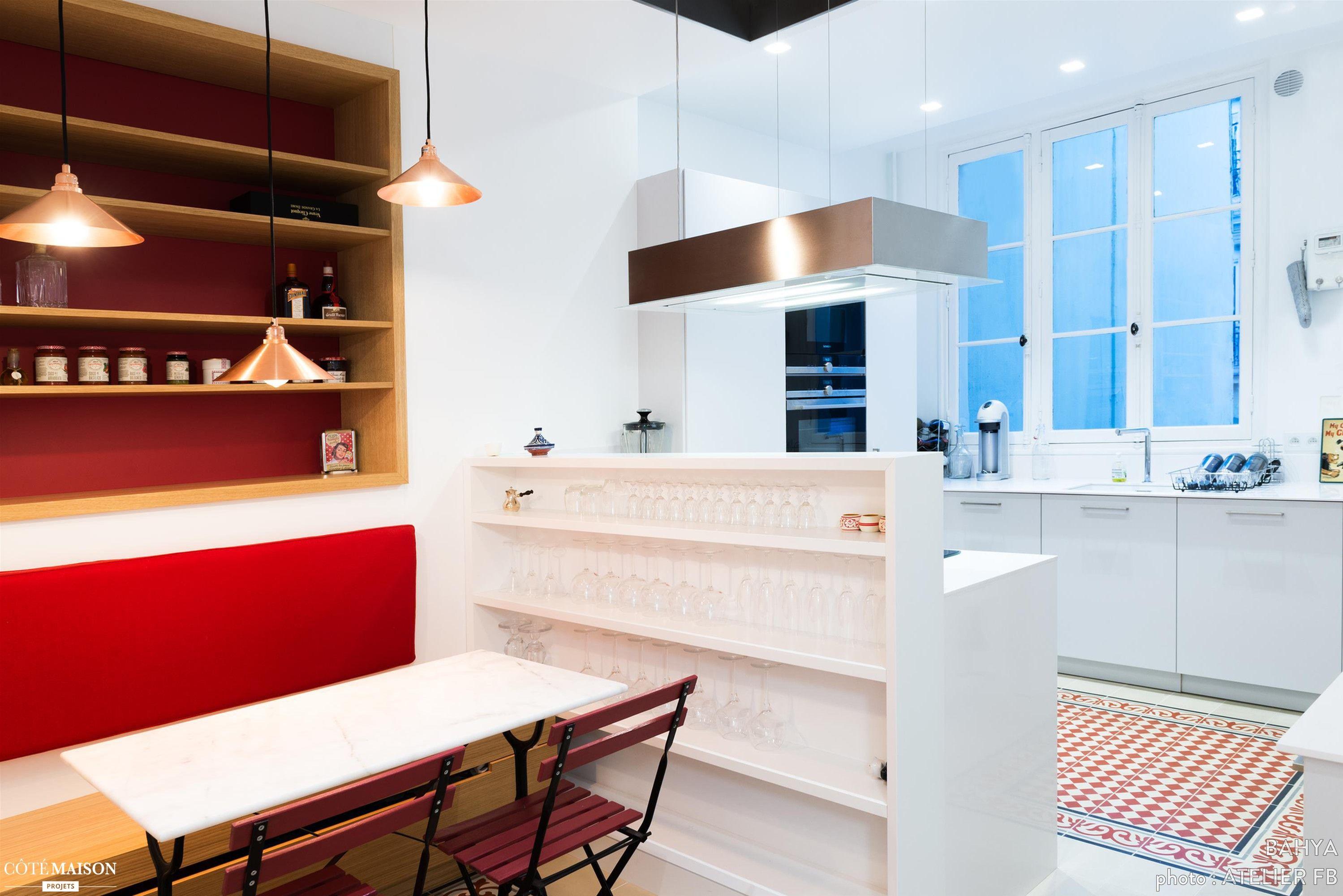 """Une cuisine moderne dans l esprit """"bistrot"""" BAHYA C´té Maison"""