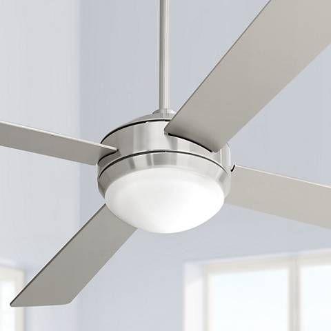52 Courier Brushed Nickel Ceiling Fan M2564 Lamps Plus Kitchen Brushed Nickel Ceiling Fan Silver Ceiling Fan Ceiling Fan