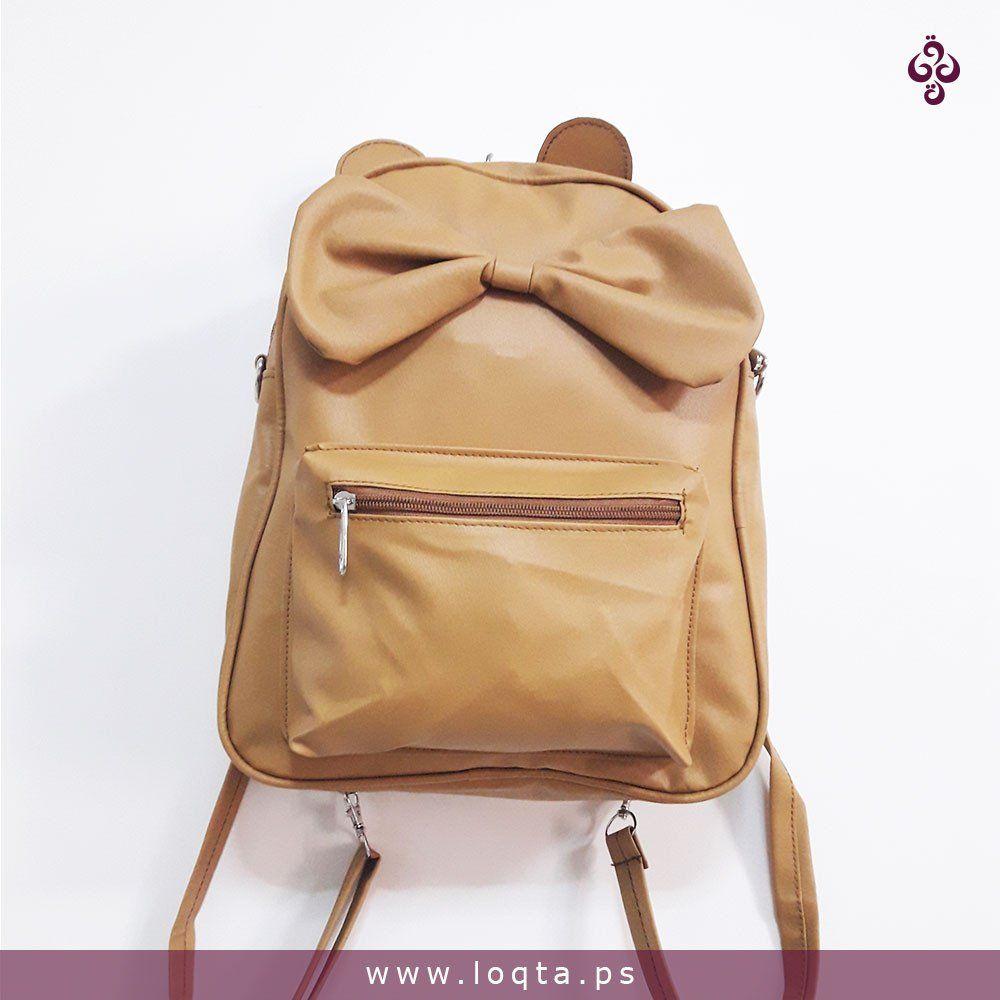 حقيبة كتف وظهر فيونكة كبيرة بعدة ألوان Loqta Ps جملي Bags Back Bag Leather