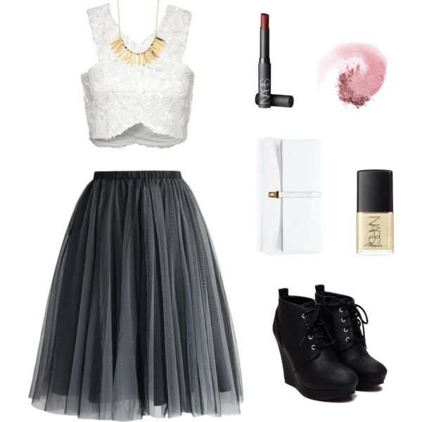 Smoked Out by angiefarella on Polyvore featuring polyvore, fashion, style, Chicwish, Charlotte Russe and NARS Cosmetics