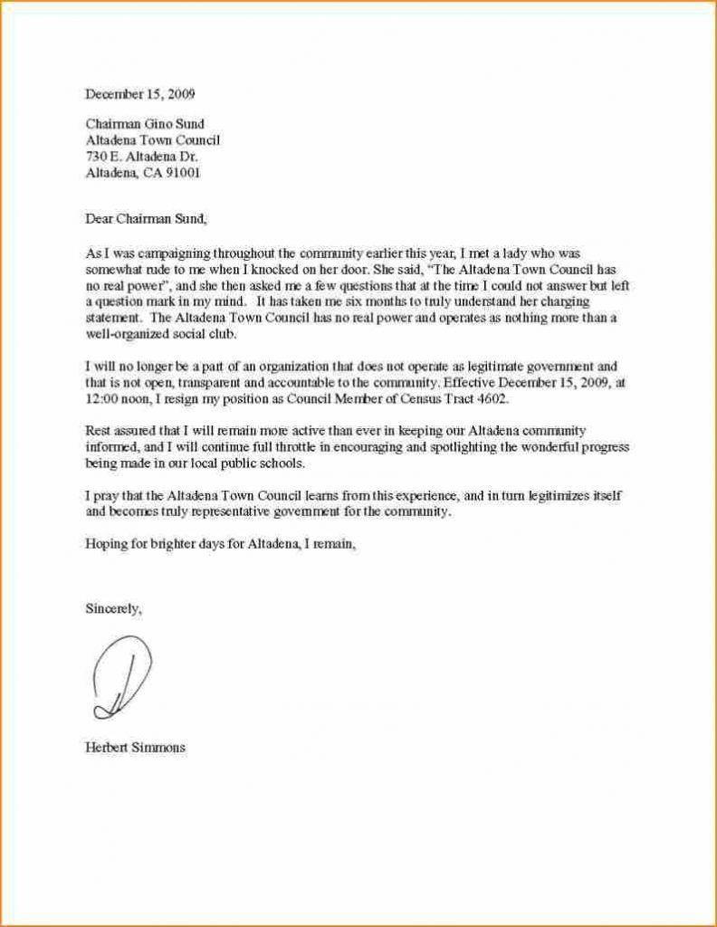 Tips Making A Basic Resignation Letter Resignation Letter