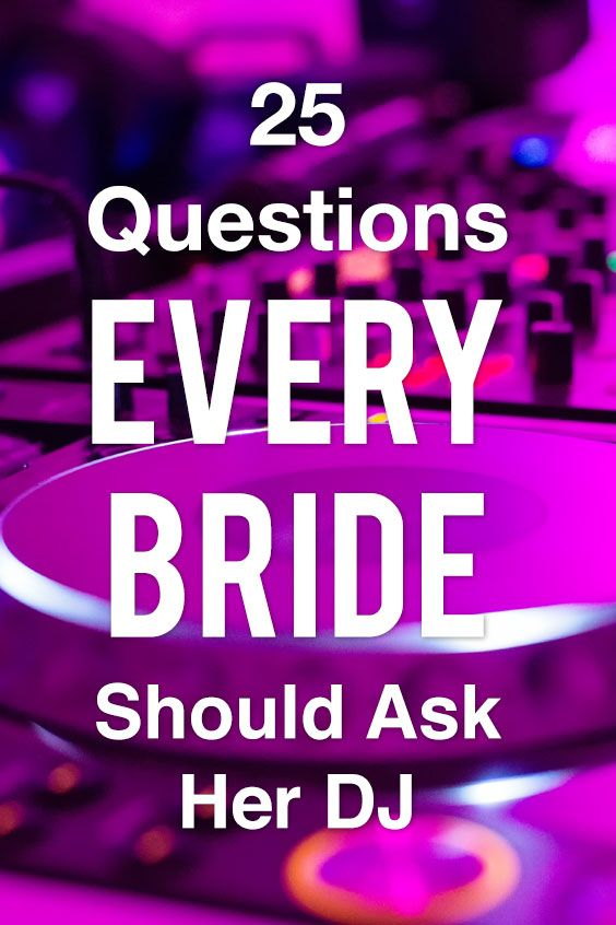 Before you sign on the dotted line for your wedding entertainment, take a look at these 25 questions to ask your DJ or band at SheFinds.com.  #wedding #dj #weddingdj