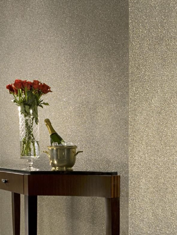 Looks Like Champagne Bubbles Adorn The Walls Contemporary Wallpaper Interior Wallpaper Wooden Wall Panels