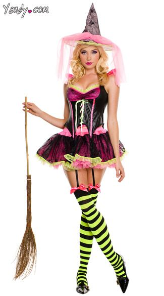 Pink Witch Costume Hallow\u0027een Pinterest Witch costumes - halloween costume ideas for women 2016