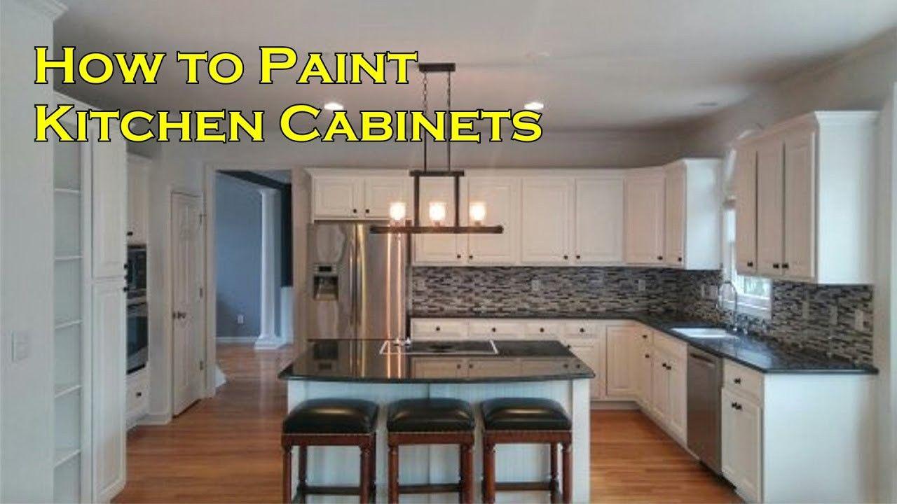 Elegant Painting Kitchen Cabinets Brush or Spray
