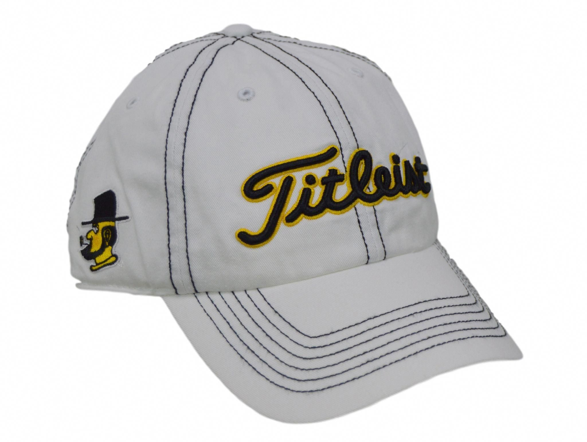 "Appalachian State White Titleist Golf Hat - 3 logos  ""golfclubstitleist"" a654e150171"