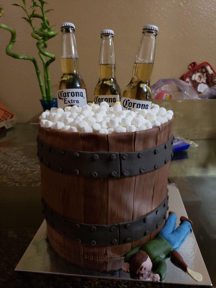 Corona Beer Bucket Cake Birthday Beer Cake Beer Bucket Cake Beer Cake