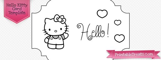 Printable Hello Kitty Card Template  Printables