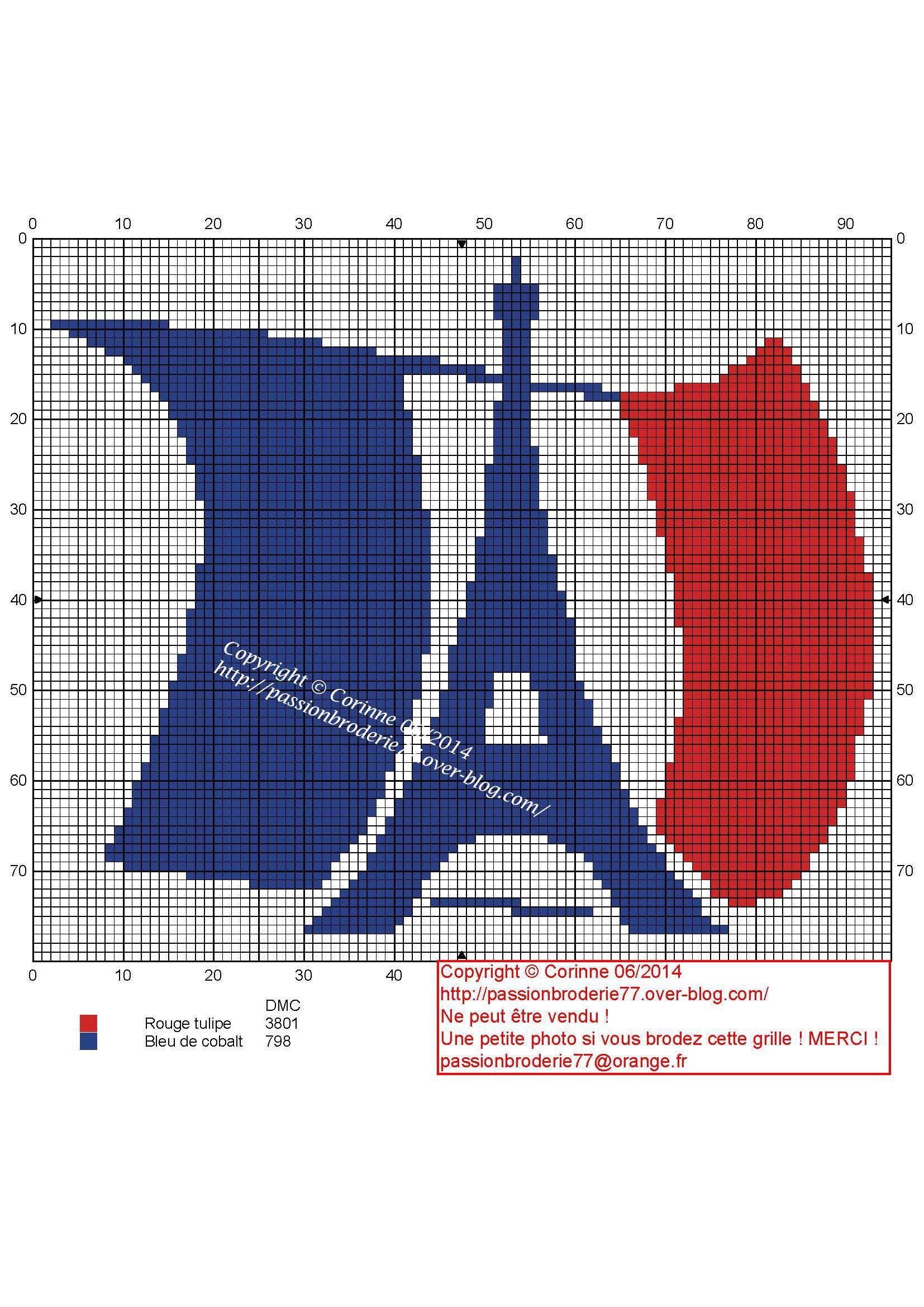 Drapeau Paris Punto De Cruz Disenos De Punto De Cruz Puntos