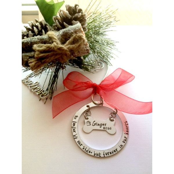 Pet Memorial Ornament Unique Sympathy Gift Christmas Ornament Dog... ($25) ❤ liked on Polyvore featuring home, home decor, holiday decorations, grey, home & living, home décor, ornaments & accents, grey home decor, puppy christmas ornaments and horse christmas ornaments