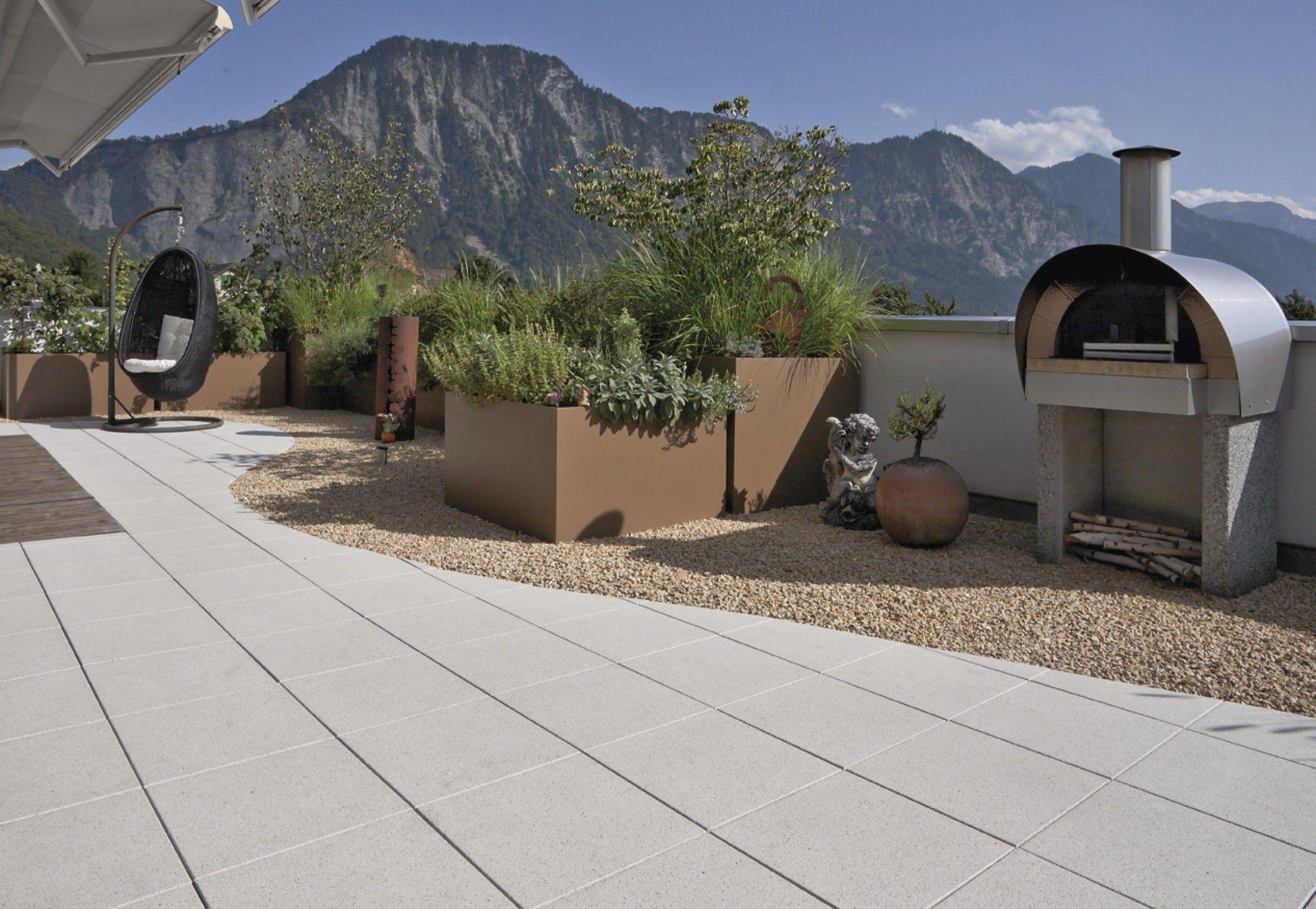 ausblick: top. terrasse: top. besonders die terralit platten mit
