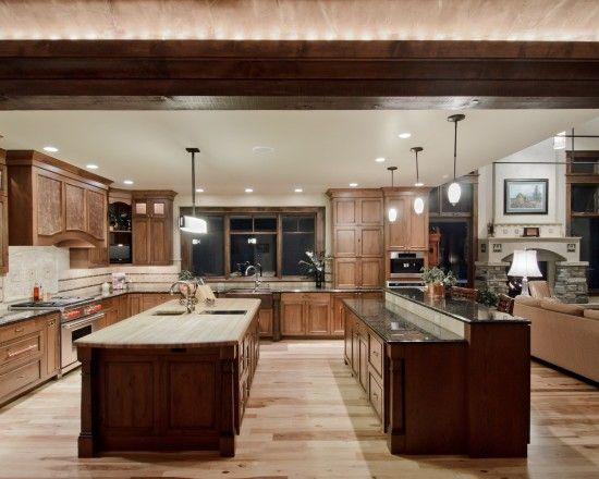Pin By Melissa Engel On Beautiful Kitchens Kitchen Design Open Double Island Kitchen Wooden Kitchen Furniture